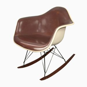 RAR Rocking Chair in Brown Vinyl by Charles & Ray Eames for Herman Miller, 1970s