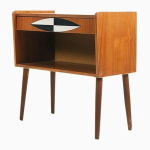 Teak Patterned Chest with Drawers, 1960s