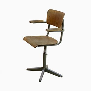 Industrial Plywood Desk Chair from Tubax, 1974