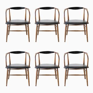 Dining Chairs by Lawrence Peabody for Richardson & Nemschoff, 1950s, Set of 6