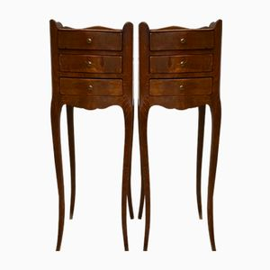 Vintage French Bedside Tables, Set of 2