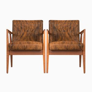 Mid-Century Armchairs by Jens Risom, Set of 2