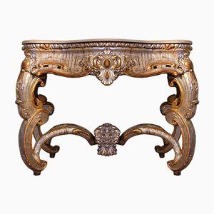 Versilberter Italienischer Konsolentisch, 1780er