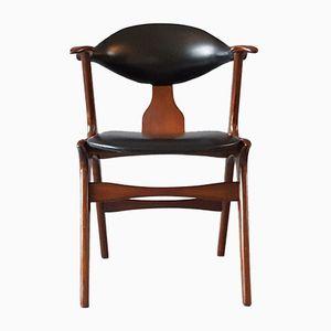 Vintage Cowhorn Sessel von Louis van Teeffelen für WéBé