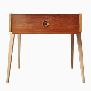 Walnut and Beech Side Table, 1950s
