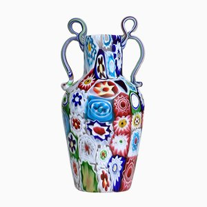 Millefiori Glass Vase from Ferro Toso & Co, 1920s