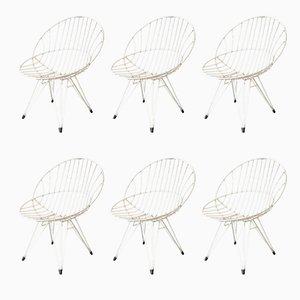 Combex Wire Chairs von Cees Braakman für Pastoe, 1950er, 6er Set