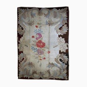 Antique Handmade American Hooked Rug, 1880s
