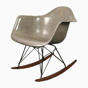 Vintage RAR Schaukelstuhl in Elefantengrau von Charles & Ray Eames für Herman Miller