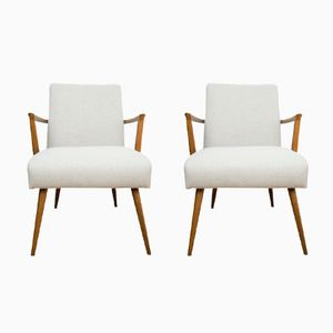 Beige Armchairs, 1960s, Set of 2