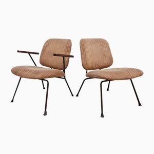 Industrielle Vintage Sessel von W.H. Gispen für Kembo, 2er Set