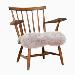 Vintage Solid Beech Armchair