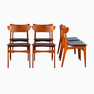 Dining Chairs by Schionning & Elgaard for Randers Møbelfabrik, 1960s, Set of 6
