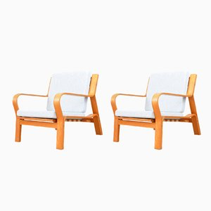 Vintage Model GE 671 Lounge Chairs by Hans J. Wegner for Getama, Set of 2