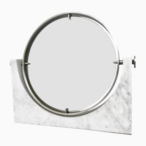 Vanity Mirror with Carrara Marble Base, 1970s