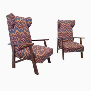 Reclining Chairs, 1960s, Set of 2