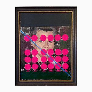 Peinture à l'Huile Woman with Dots & Stripe par Markus Friedrich Staab, 2017