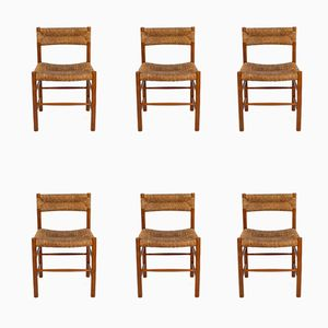 Dordogne Chairs by Charlotte Perriand for Robert Sentou, 1950s, Set of 6