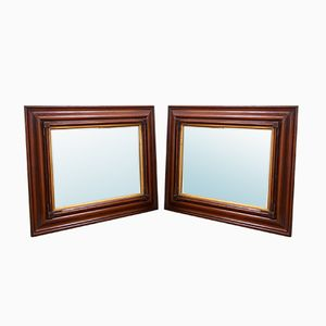 Antique Wall Mirrors, Set of 2