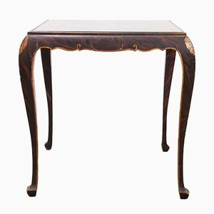 Antique Side Table with Cabriole Legs