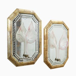 Antique Silver Gilt Mirrors, Set of 2