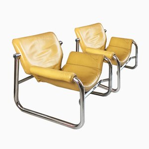Leather Alpha Armchairs by Maurice Burke for Arkana, 1960s, Set of 2