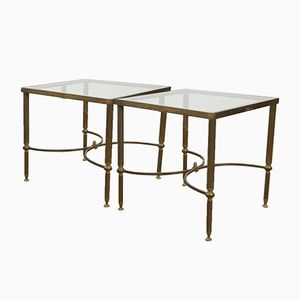 Vintage Brass Coffee Tables, Set of 2