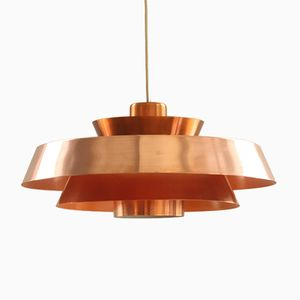 Vintage Nova Pendant in Copper by Jo Hammerborg for Fog & Mørup