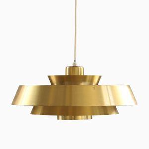 Vintage Nova Pendant in Brass by Jo Hammerborg for Fog & Mørup