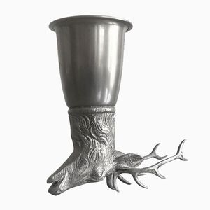 Vintage Silver Stag Stirrup Cup from Gucci
