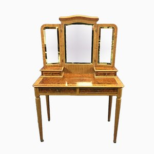 Vintage Dressing Table in Elm Burl