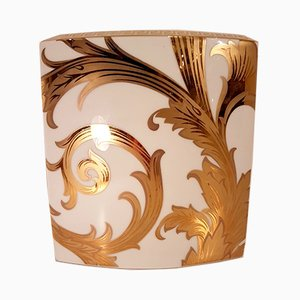 Vintage Arabesque Vase with Golden Faience by Versace for Rosenthal