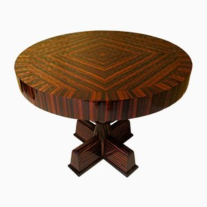 Side Table Veneered in Macassar Ebony, 1940s