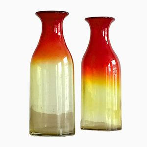 Murano Glass Vases, 1970s, Set of 2