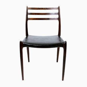 Vintage Danish Modern 78 Rosewood Dining Chair by Niels Moller for J.L. Møllers