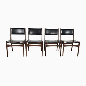 Danish Teak Chairs from Frem Røjle, 1960s, Set of 4
