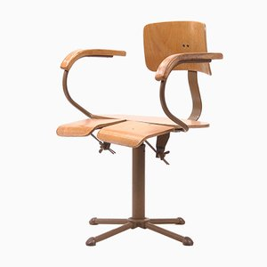 Mid-Century Industrial Revolving Chair from Drabert