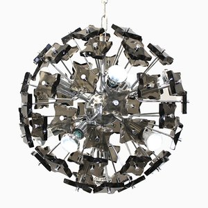Italian Smoked Crystal Chandelier, 1960s