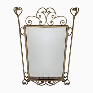 Mirror in Gilded Wrought Iron, 1950s