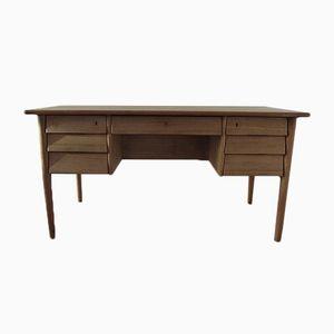 Mid-Century Eichenholz Schreibtisch
