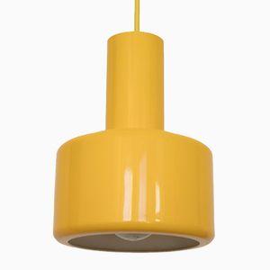 Danish Piccolo Series Yellow Pendant Lamp from Lyfa, 1970s