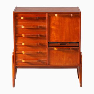 Teak Freestanding Chest of Drawers by Gianfranco Frattini, 1950s