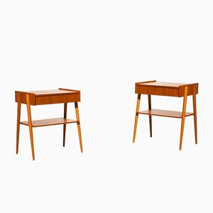 Teak Bedside Tables, 1960s, Set of 2