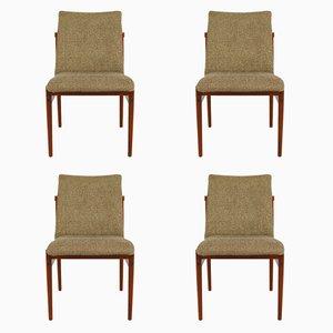 Vintage Esszimmerstühle aus Teak und Stoff von Thereca, 4er Set