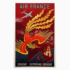 Air France Poster for The Orient Extreme-Orient, 1947