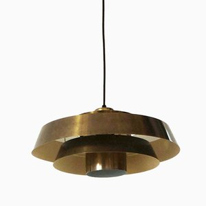 Vintage Nova Pendant Lamp in Brass by Jo Hammerborg for Fog & Mørup