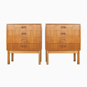 Vintage Danish Bedside Tables in Teak, Set of 2
