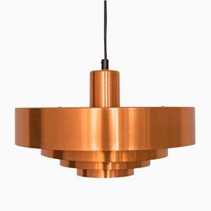 Roulet Spun Copper Pendant Light by Jo Hammerborg for Fog & Mørup, 1950s