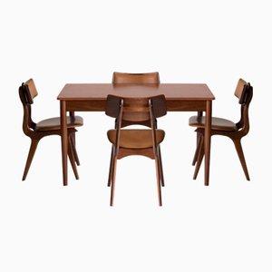 Teak Dining Set by Louis Van Teeffelen for Webe, 1960s