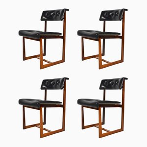 Vintage Rosewood Dining Chairs, Set of 4